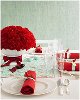 Gorgeous Red Carnations Centerpiece