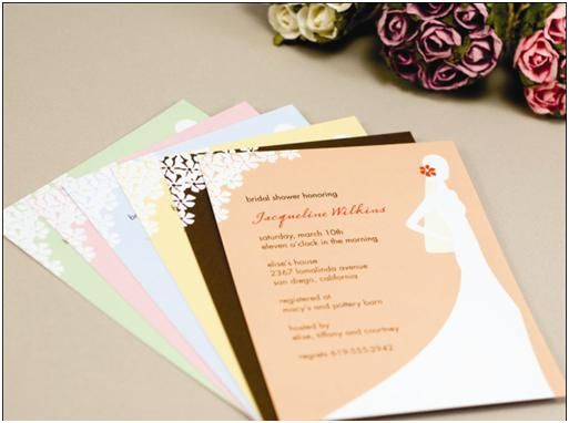 Sophisticated Silhouette Bridal Shower Invitations in Many Colors