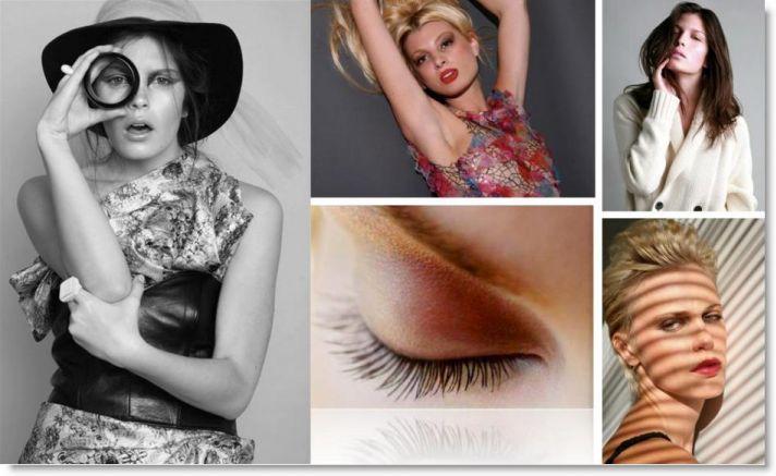 High fashion photos featuring Kali Merrow's talent as a makeup artist