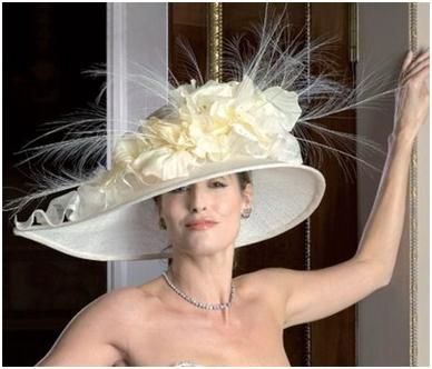 Off white picture hat- perfect for a daytime wedding or formal