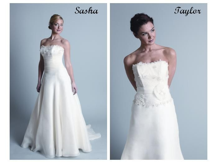Strapless wedding dresses- detailed bodice with flower and lace details