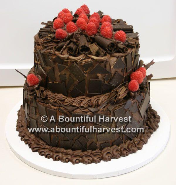 Dark truffle chocolate groom's cake