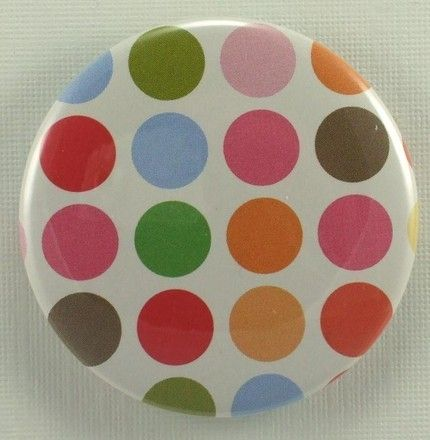 polka dot bridesmaid pocket mirror