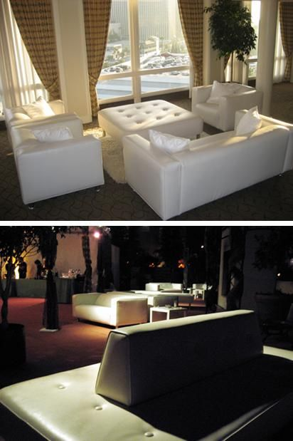 Add white furniture to your wedding reception for a modern twist