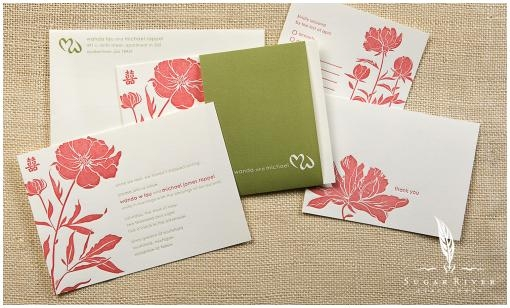 Sugar-River-Stationers-coral-white-green-peony-letterpress-wedding-invitations