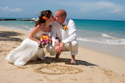 A sunkissed beach wedding