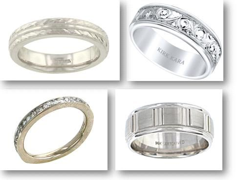 Beautiful platinum wedding bands in many different styles
