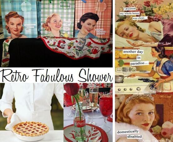 A retro fabulous bridal shower with Coca Cola, cherry pie, and pinups