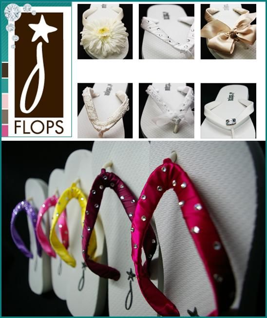 J*Flops stylish and comfortable bridal flip flops are fabulously fun