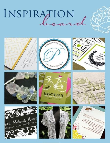 Perfect for an outdoor wedding- letterpress wedding invitations, save-the-dates, bridal jewelry, and