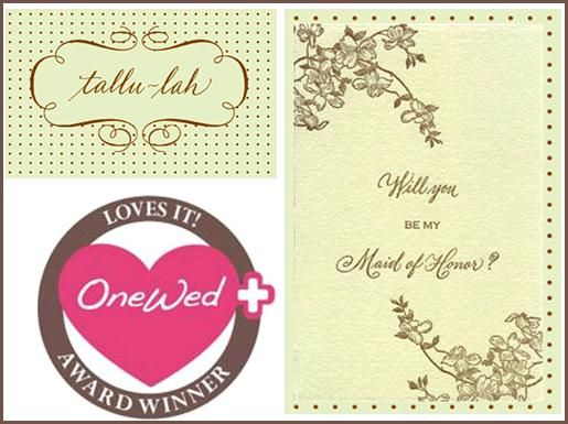 OneWed loves Tallu-lah wedding cards and stationery!
