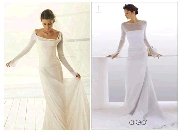 Bride chic bridal looks for the petite bride onewed for Long straight wedding dresses