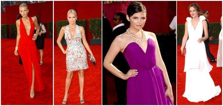 Deep V necks were all over the 2009 Emmy red carpet