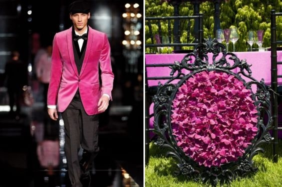 Hot pink and black perfectly paired on the Dolce Gabbana runway let this