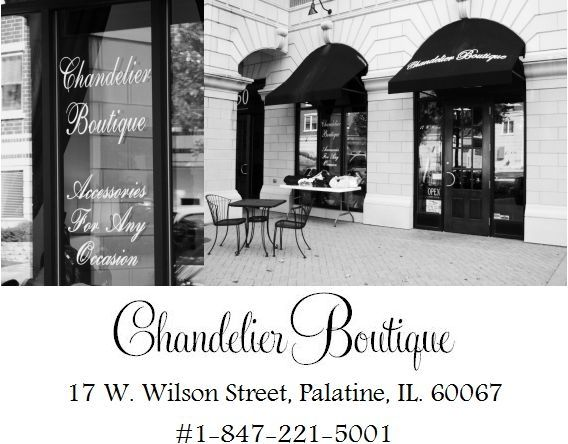 Little boutiques are a great place to find unique, affordable bridal accessories- like Chandelier Bo