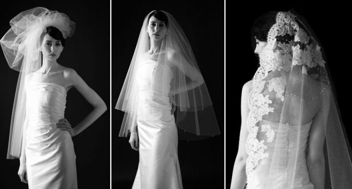 Avant garde Vogue Veil from Sara Gabriel- beautiful and dramatic