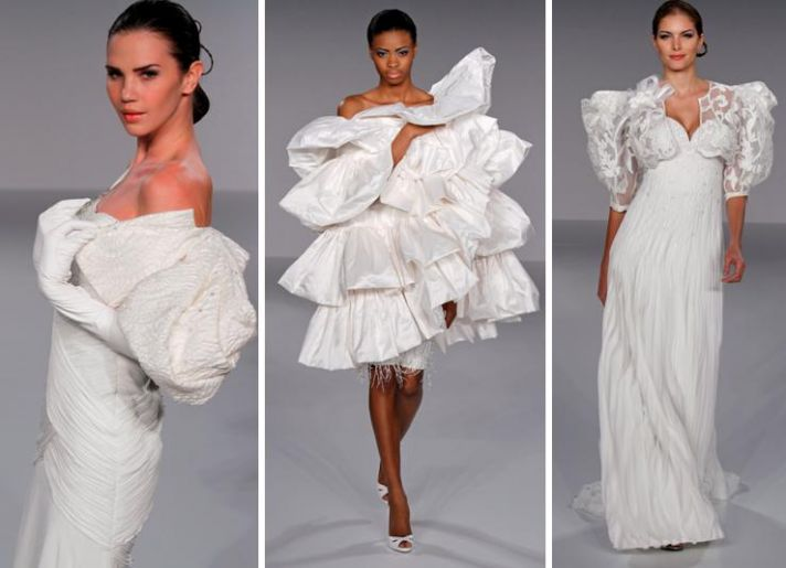 Avant-garde jackets and boleros from Priscilla of Boston's Spring 2010 Platinum Collection