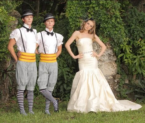 Vanilla cream strapless drop waist wedding dress with rhinestone sash