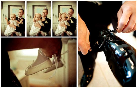 leather wedding shoe flower girl with tiny ivory ballet flats gets some
