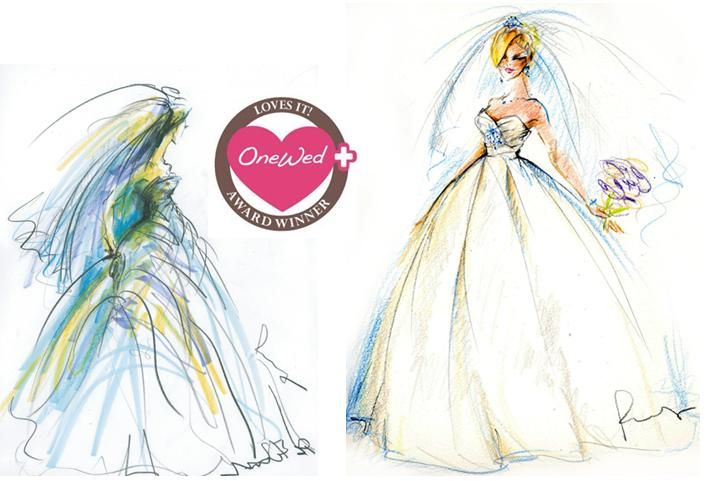 Rosemary Fanti- talented illustrator and artist, creates bridal fashion sketches to help you remembe