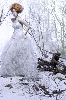 Monterosso Couture bustier wedding dress with ruffled ballgown skirt