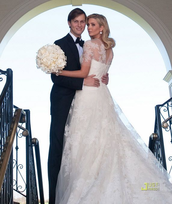 Ivanka Trump was stunning in her classic ivory lace Vera Wang wedding dress
