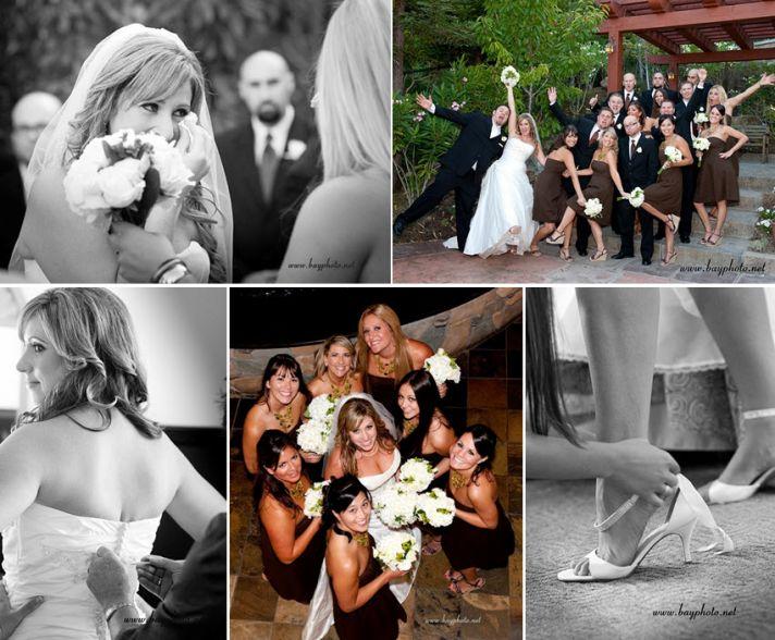 "Bride gets emotional after saying ""I Do""; large wedding party (7 bridesmaids, 7 groomsmen) celebrate"