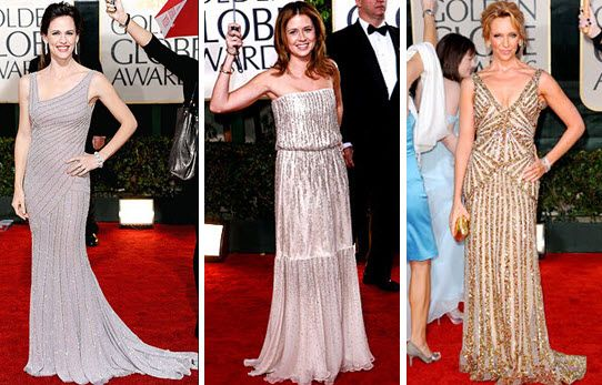 Golden Globes 2010 Red Carpet Jennifer Gardner, Jenna Fischer, Tony Collette