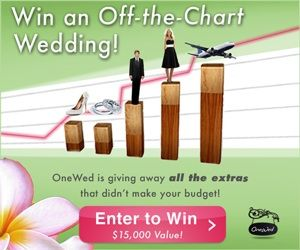 This graph shows a bride in a black cocktail dress and a groom in a free tuxedo showing how Off-the-