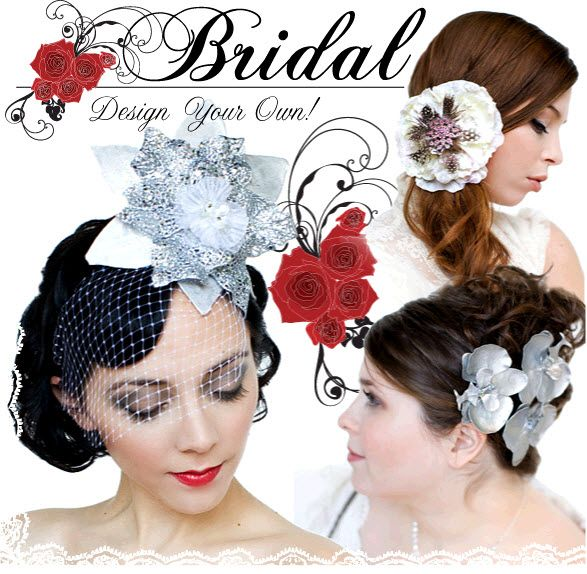 Vintage-inspired bridal headpieces and headbands