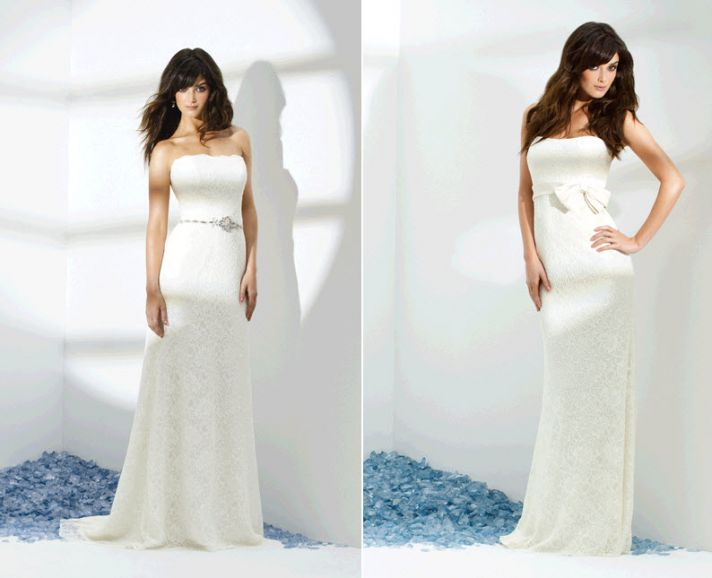 Beautiful white strapless wedding dresses perfect for your beach wedding