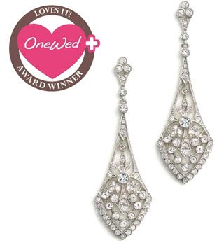 Beautiful chandelier bridal earrings from Anna Bellagio!