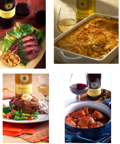Basic foods like macaroni and cheese, flank steak, pork chops and pot roast can be paired with wines