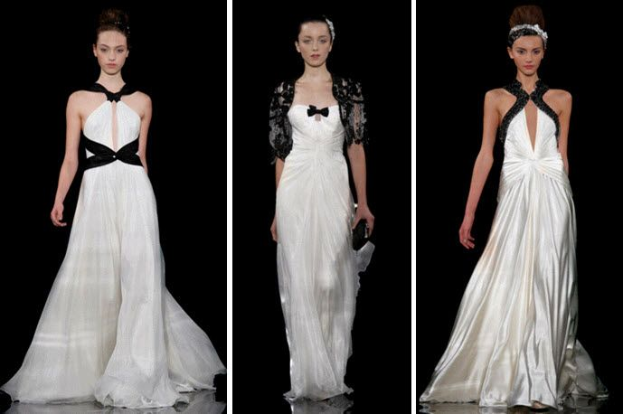 Stunning Packham Wedding Dresses With Black And Ivory Dress
