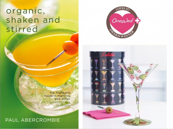 OneWed loves this book about organic drinks, and this fancy martini glass