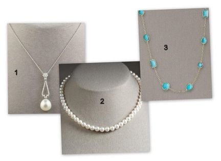 These three necklaces are perfect as wedding day accessories or accessories for any other day.