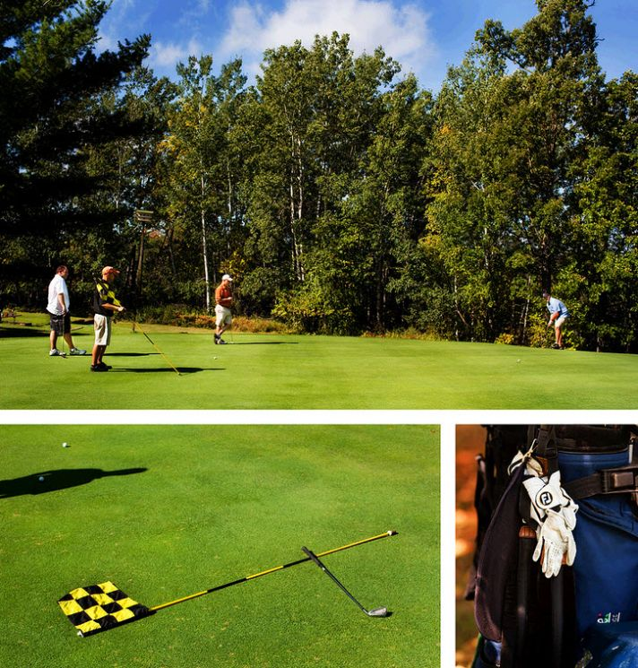 Wedding day fun- wedding party games on the golf course!