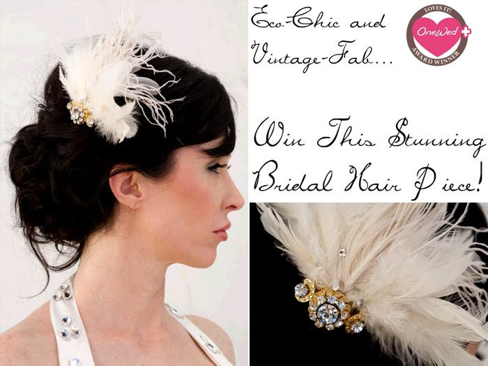 Win this one-of-a-kind vintage hair accessory from Renee Pawele's new Eco Collection!