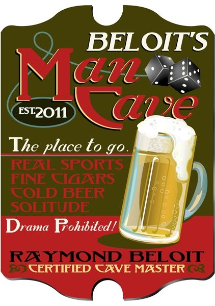"""This vintage """"Man Cave"""" pub sign is perfect for your dad on Father's Day"""