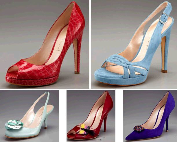 Red hot bridal heels, or your something blue! Drool-worthy bridal kicks by Casadei