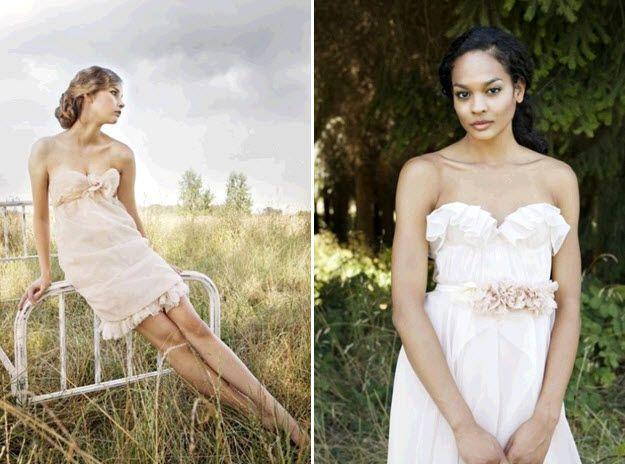 Flirty strapless dresses by Etsy designer Sarah Seven
