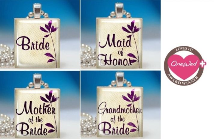 Adorable personalized necklaces for your bridesmaids and favorite friends