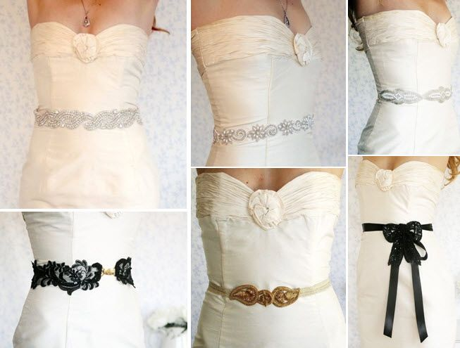 Gorgeous handmade jeweled and beaded bridal belts on Etsy