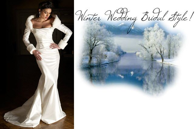 For a winter wedding choose a wedding dress with midlength or long sleeves