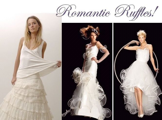 Bring a little romance to your wedding day look with ruffles