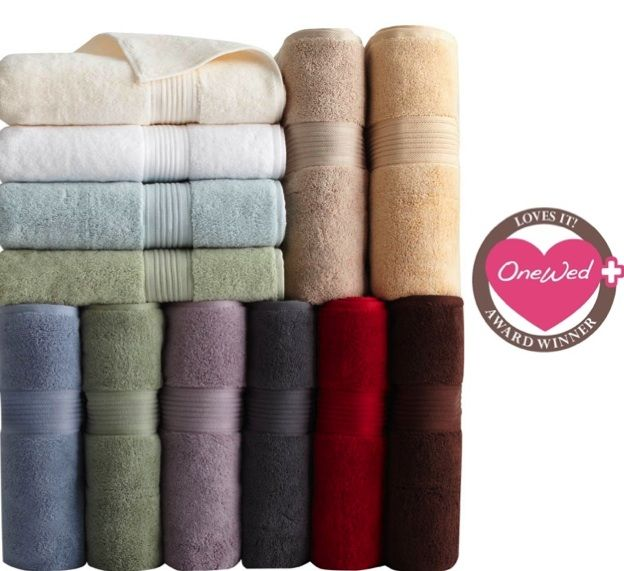 This towel collection is perfect for your wedding registry.