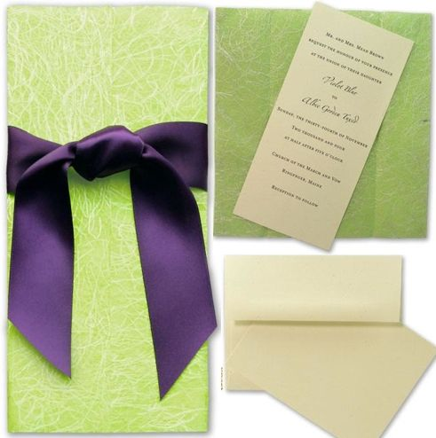 Eco-friendly, chic and modern wedding invitations printed on tree-free papers made from post harvest