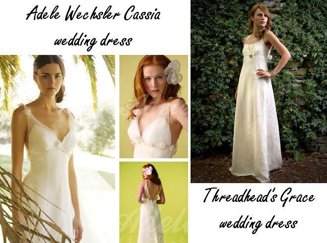 Eco-friendly wedding dresses from Adele Wechsler & Threadhead