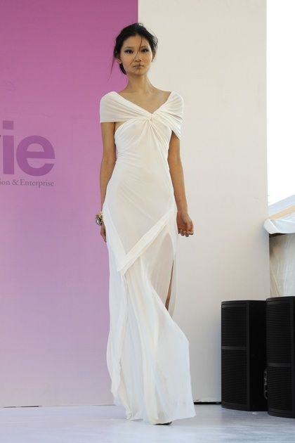 This flowing Donna Karan dress would be perfect for a chic destination wedding