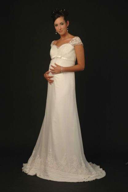 Credit Sarah Houston maternity wedding dress Style SHM001M